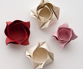 How to make an Origami Valentines Rose Box!