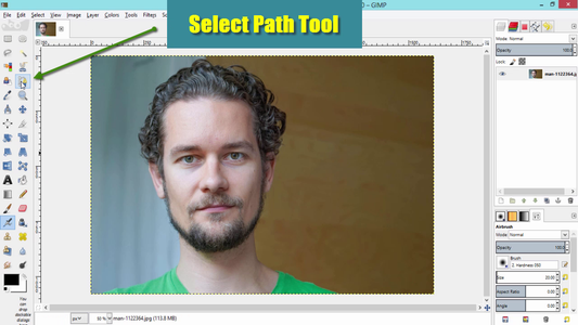 Select the Path Tool