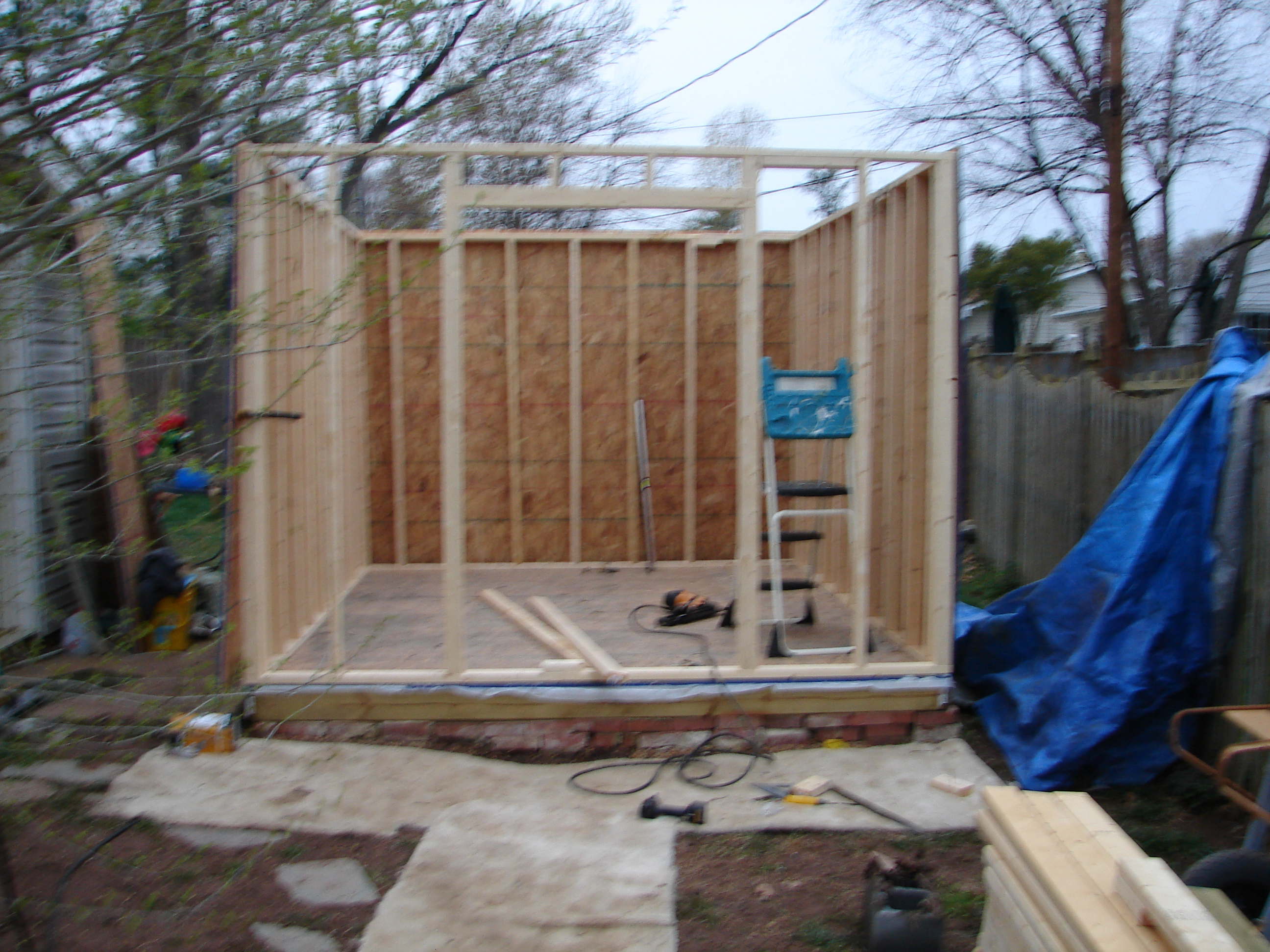 Picture of Building the Base and Putting Up the Walls.
