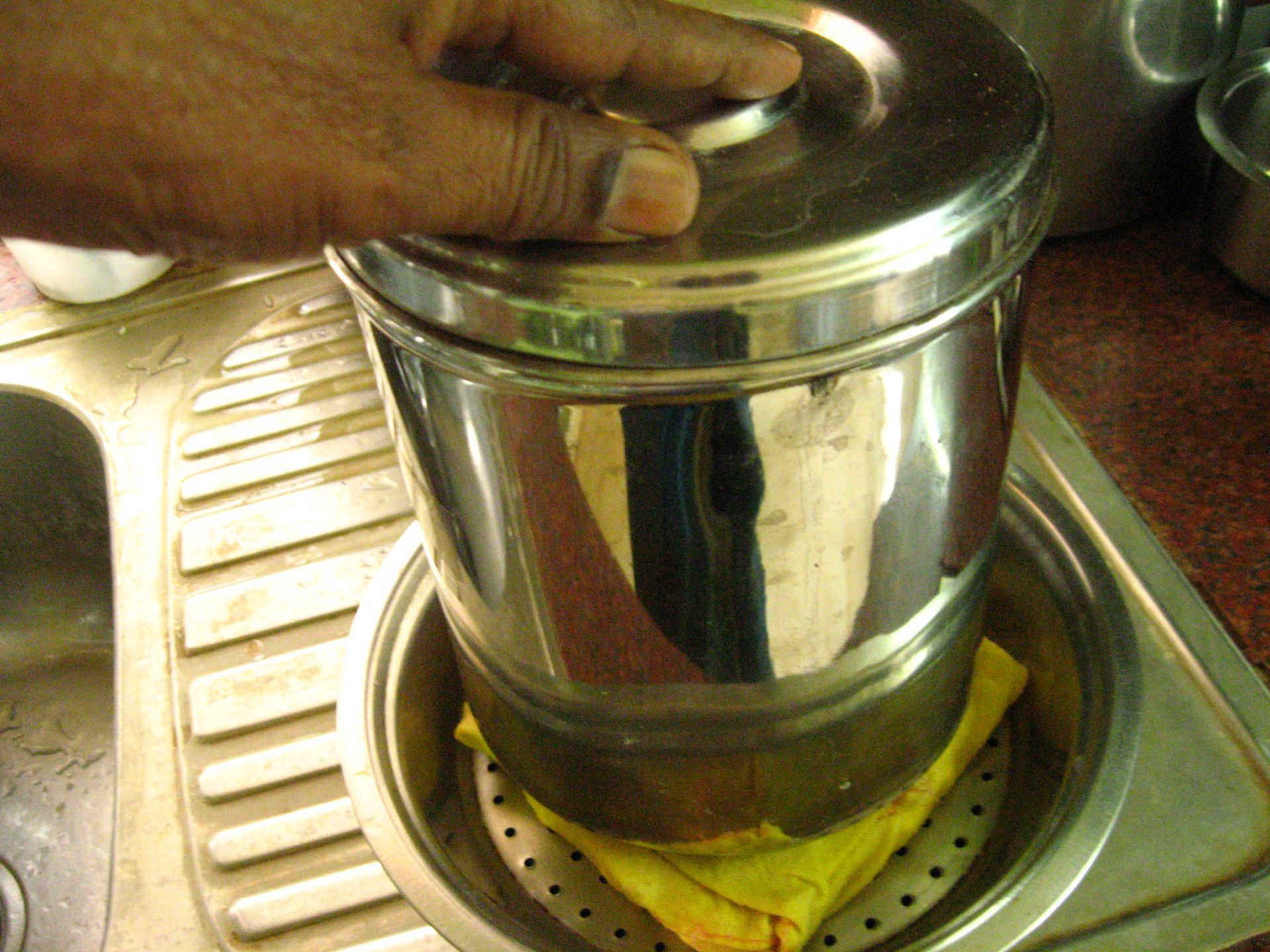 Picture of Add Weight to Strain Out Excess Whey