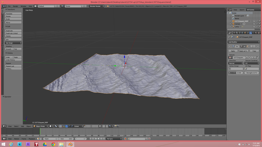 Import Height Map Into Blender