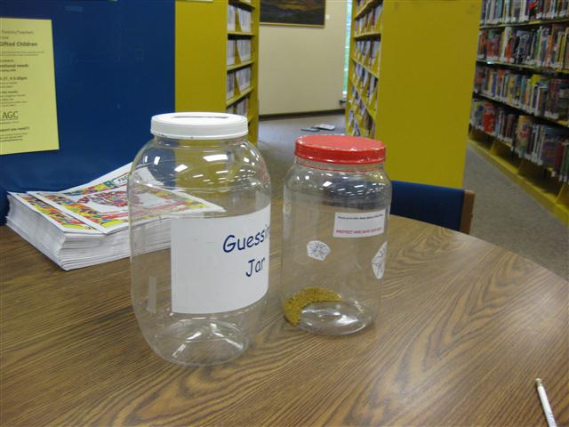 Picture of Guessing Jars at the Library