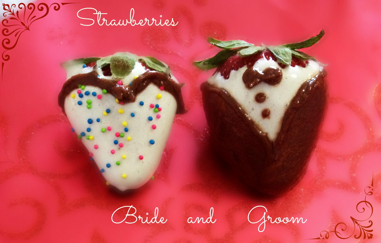 Picture of Strawberries Bride & Groom