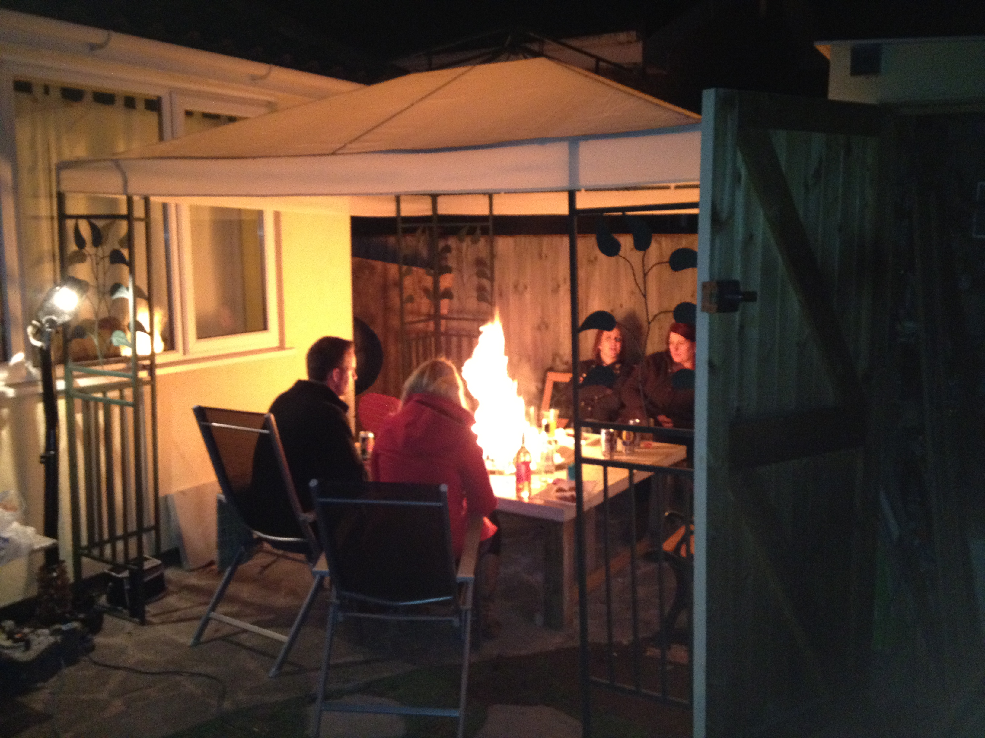Picture of Polished Concrete Fire Pit Table