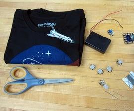 Interactive NASA Shirt Using Crazy Circuits