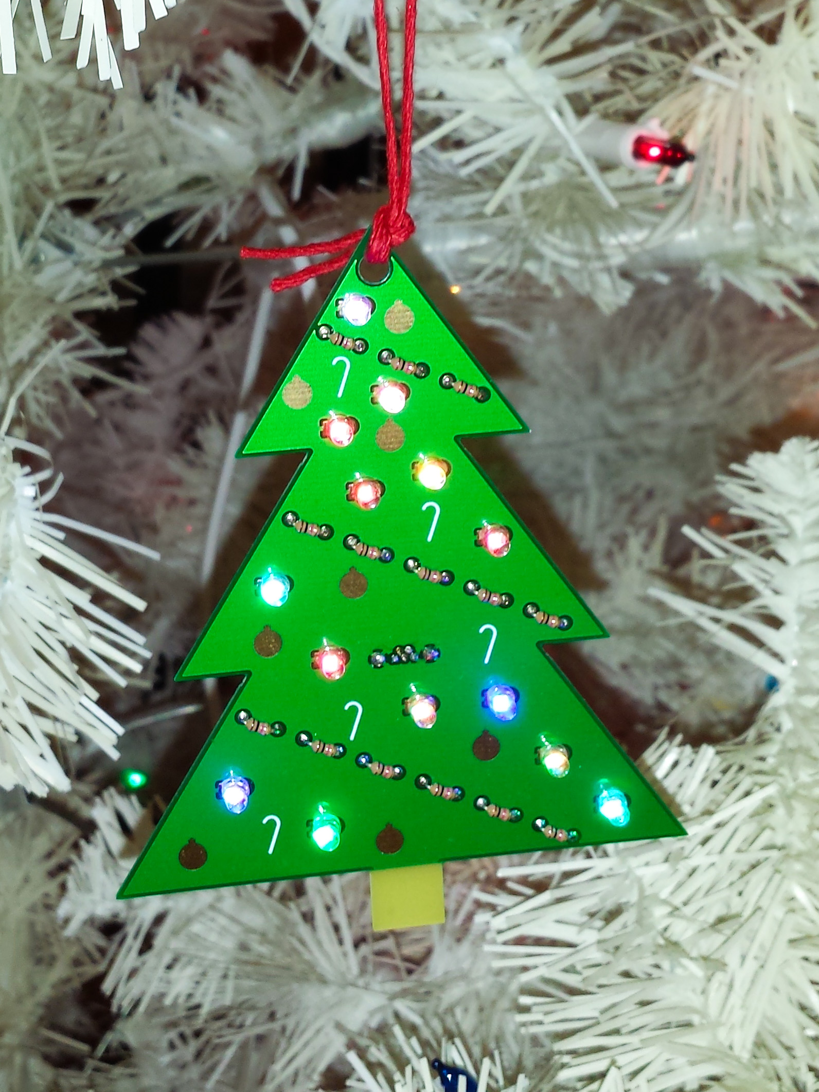 Picture of LED Circuit Board Christmas Tree Ornament