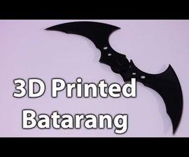 3D Printed Batman Batarang