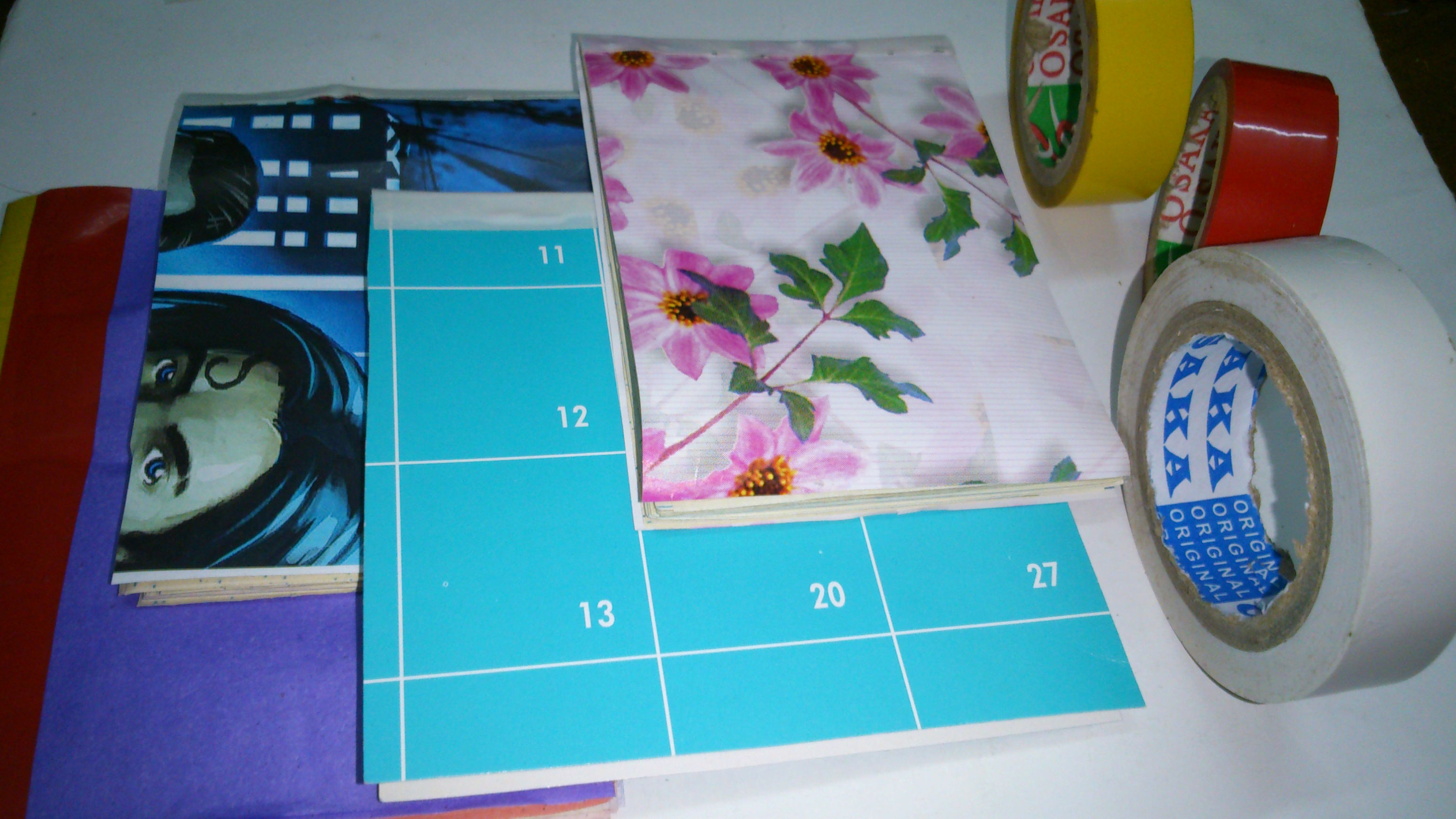 Picture of 15 Minute D.I.Y. 4 Different Duct Tape Mini Notebook/mini Quote Art Journal