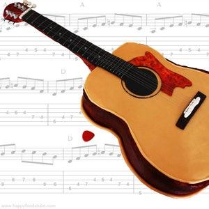 How to Make Acoustic Guitar Fondant Cake