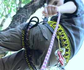 DIY harness for climbing
