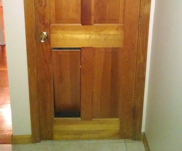 Hidden Pet Door In Panel Door 10 Steps With Pictures