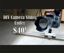 DIY Camera Slider Under 40 USD!