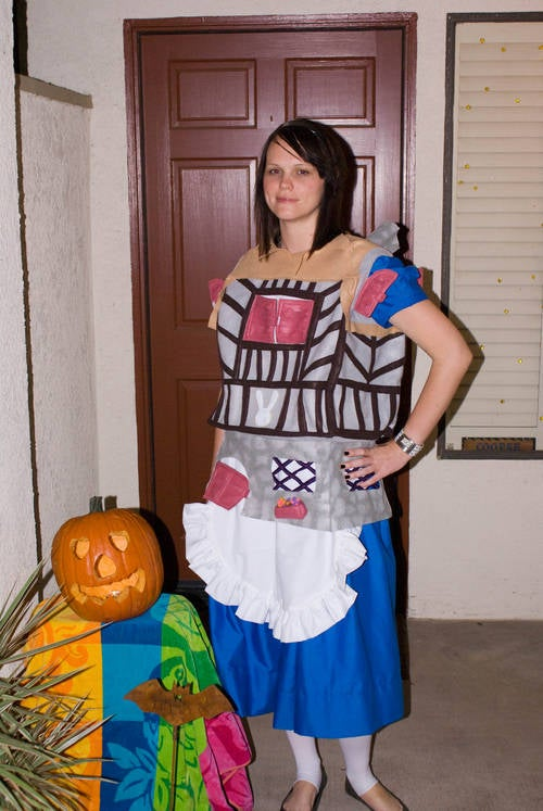Alice Busting Out of the White Rabbits House Costume! Not Your Average Alice!
