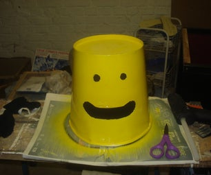Lego Like Head With Popcorn Box