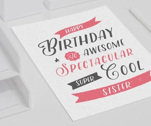 Birthday Card Tutorial