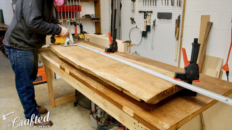 Picture of Flatten Slab, Cut Slab in Half, & Square Up Ends
