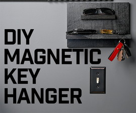 DIY Magnetic Key Hanger