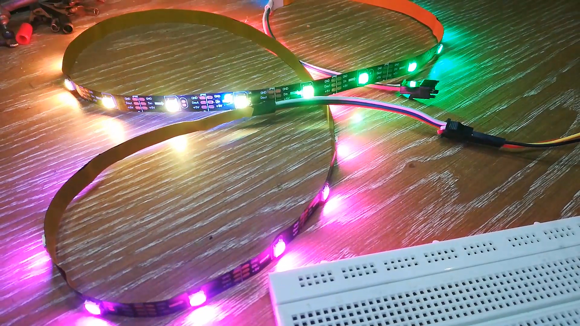 Picture of Powering WS2812 RGB LED Strip