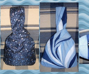 Reversible Japanese Knot Bag From Jeans