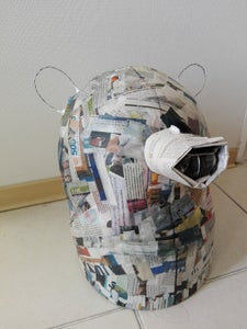 Shape It With Newspaper