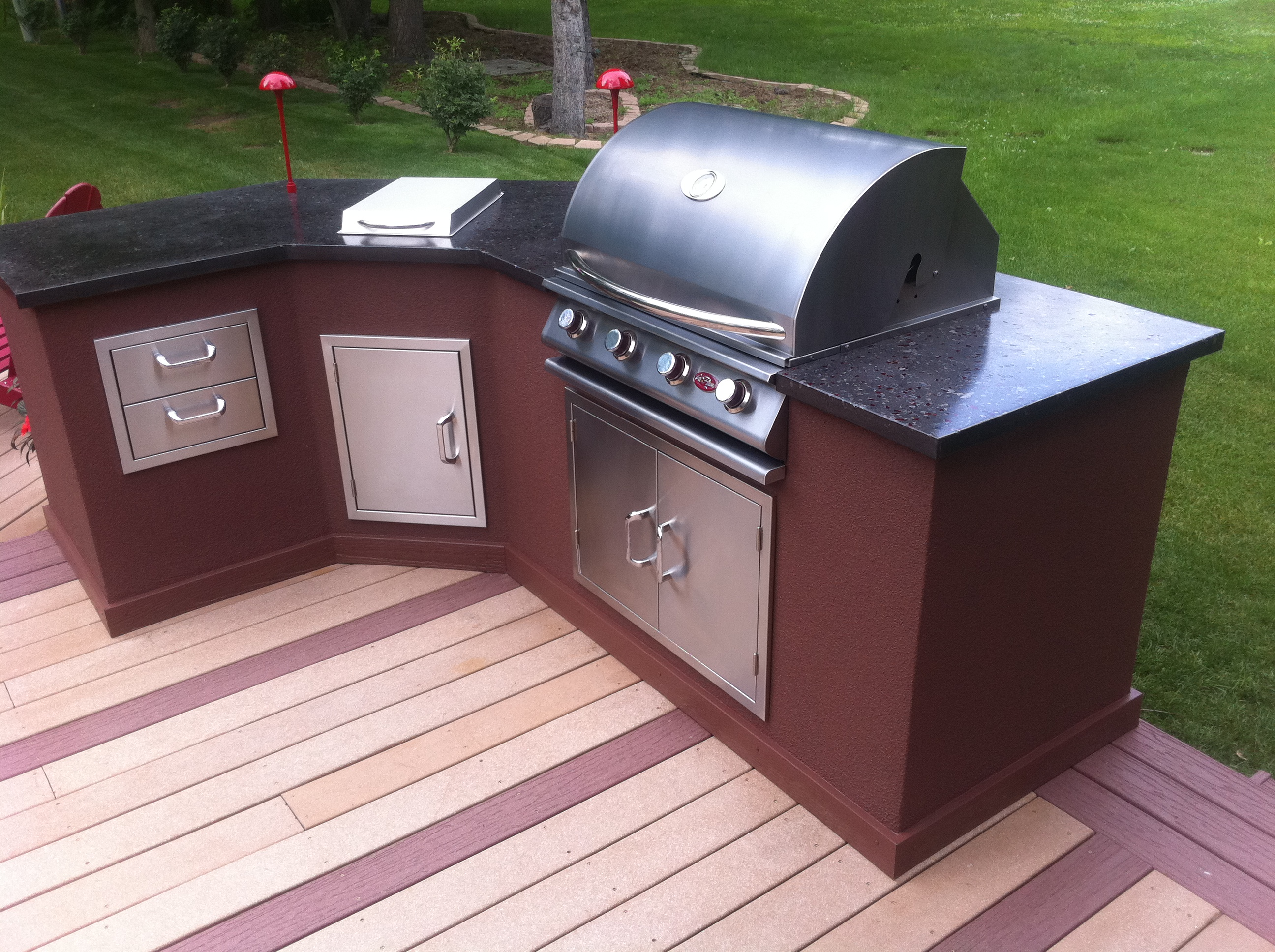 Outdoor Kitchen With Concrete Countertops: 8 Steps (with ...