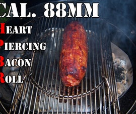 Cal. 88mm Heart Piercing Bacon Roll - Filled with onions and prune, wrapped in a bacon braid