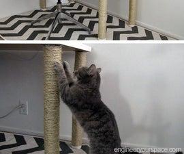 DIY scratching post desk legs