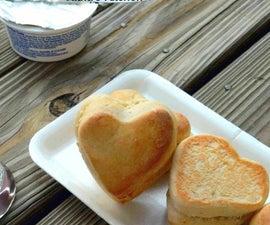 Cute Heart Stuffed Dinner Rolls   Coconut Buns
