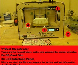 Understanding 3D Printing MakerBot Replicator: Setting up and Printing