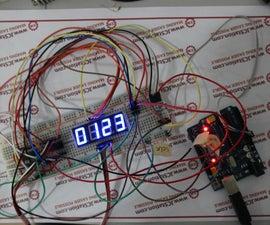 74HC595 digital LED Display Based on Arduino( Code Provided)