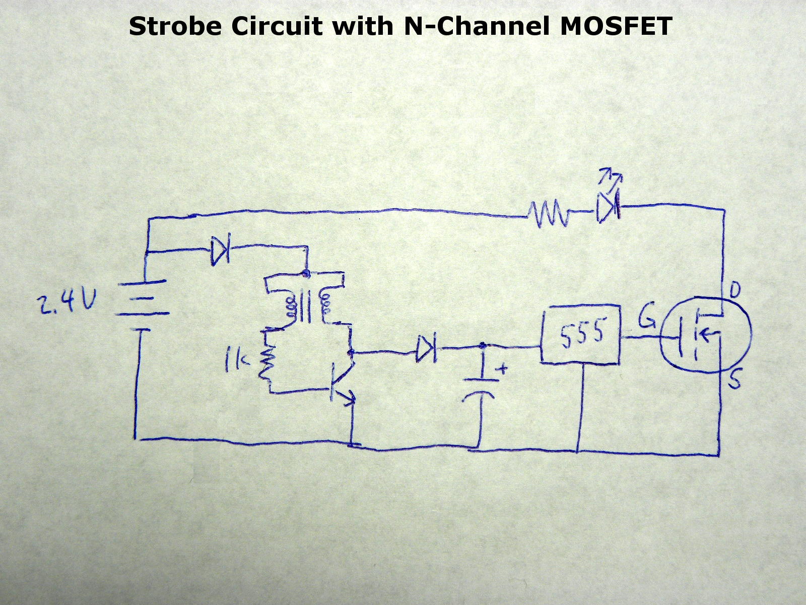 Picture of Joule Thief for Driving MOSFET