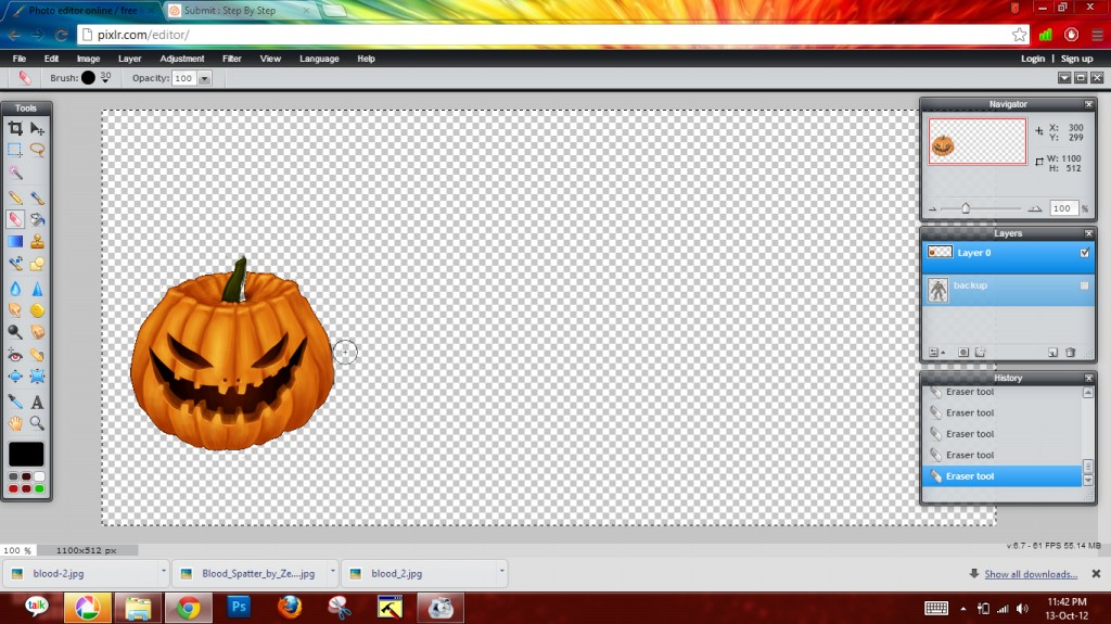 Picture of Adding Pumpkins + Making Background