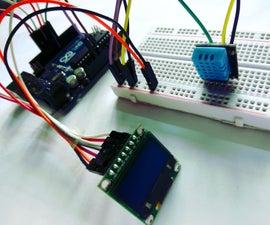 Interfacing DHT Sensor With OLED & ArduinoUno