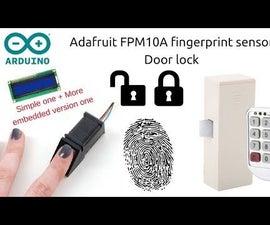 Arduino Fingerprint Door Lock