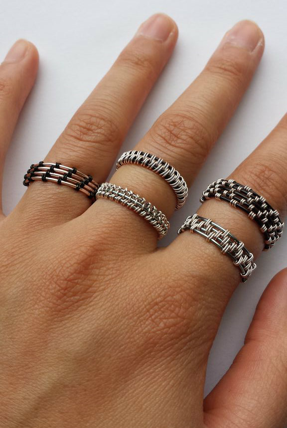 Picture of Woven Wire Rings