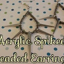 DIY Acrylic Spiked Beaded Earrings