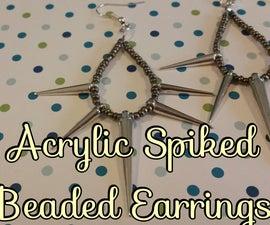 DIY Acrylic Spiked Beaded Earrings