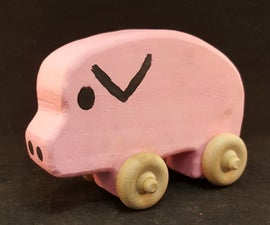 How to Make a Wooden Pig Toy by Lindsay