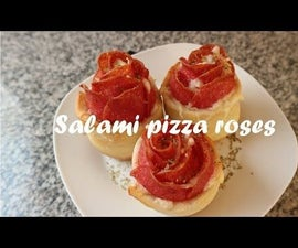 Salami Pizza Roses Recipe