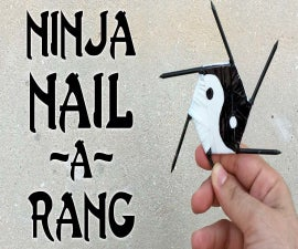DIY Ninja Nail-arang | Homemade Shuriken (Video)