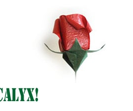 How to make an Origami Plant Calyx for Roses & Flowers!