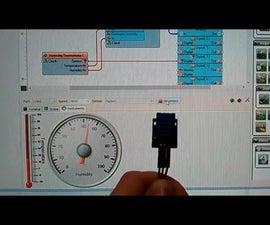 Arduino Nano: DHT11 Temperature and Humidity Visual Instrumentation with Visuino