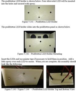Epoxy the LEDs to the Pushbutton Panel LED Holder