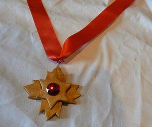 Polymer Clay Dracula Medallion!