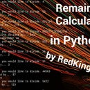 Simple Remainder Calculator in Python 3