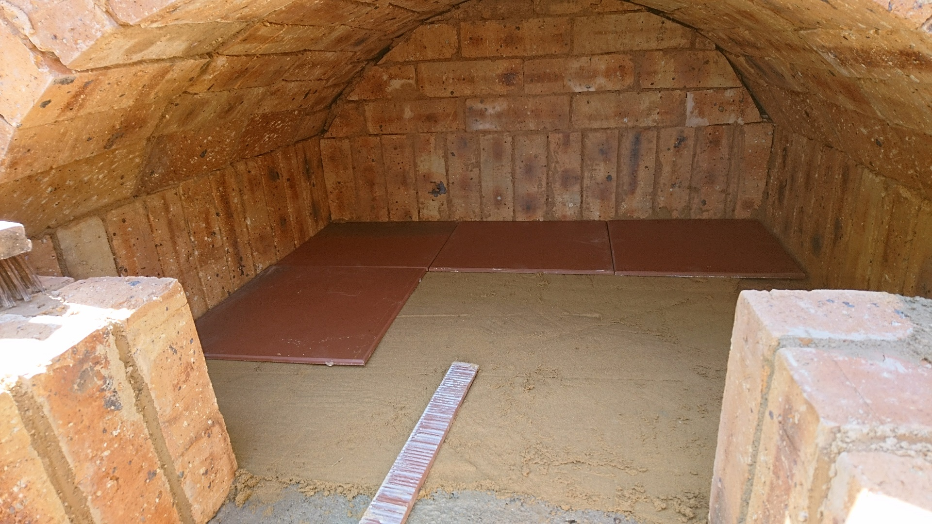 Picture of Finishing the Oven Floor