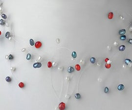 Freshwater Pearl Spray Wedding Necklace