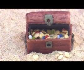 DIY Pirate Treasure Chest Cake Topper