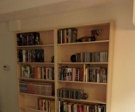Hidden bookcase doors to secret lair