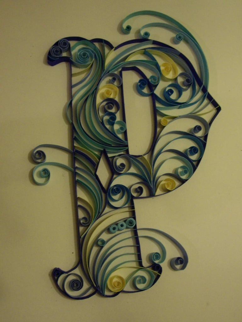 Quilled Monograms Cheap Easy No Special Equipment 6 Steps With Pictures Instructables